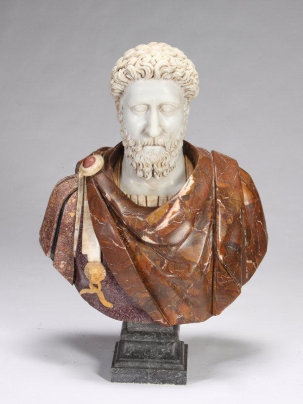 Marble Roman Bust